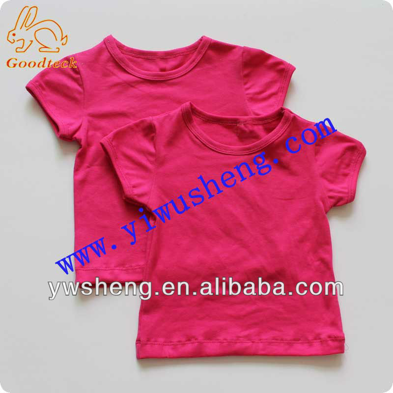 2016 Plain short sleeve cotton top blank baby t shirts for wholesale
