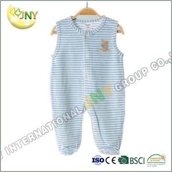 Custom Print Carters Striped Velour Baby Clothes Romper Set Buy