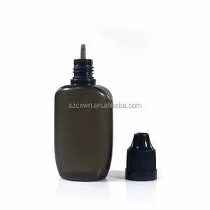 UK style PE black flat oval shape plastic dropper bottle 15ml 30ml for e-liquid