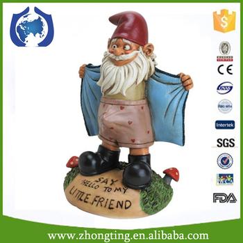 Funny Garden Decoration Gnome Figure Wholesale Ceramic Leprechaun Garden  Statues