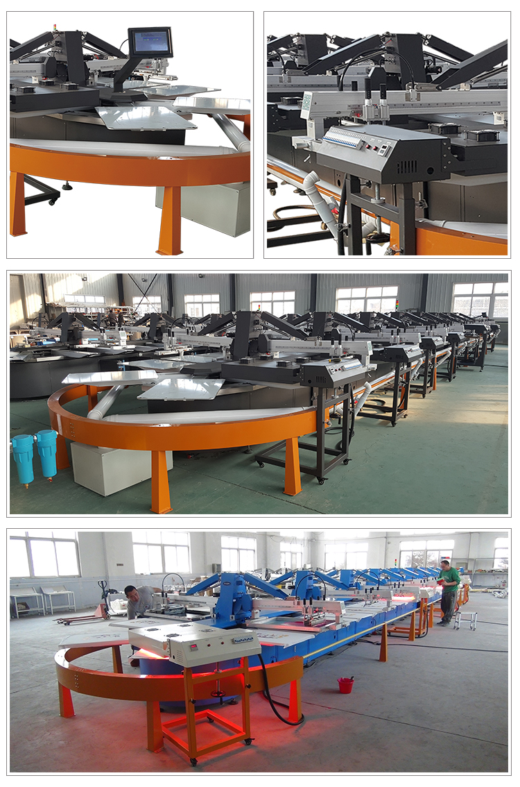 Fully automation oval screen printing machine t shirt