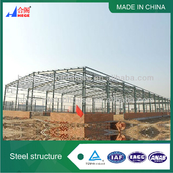 iso standard light steel prefabricated warehouse