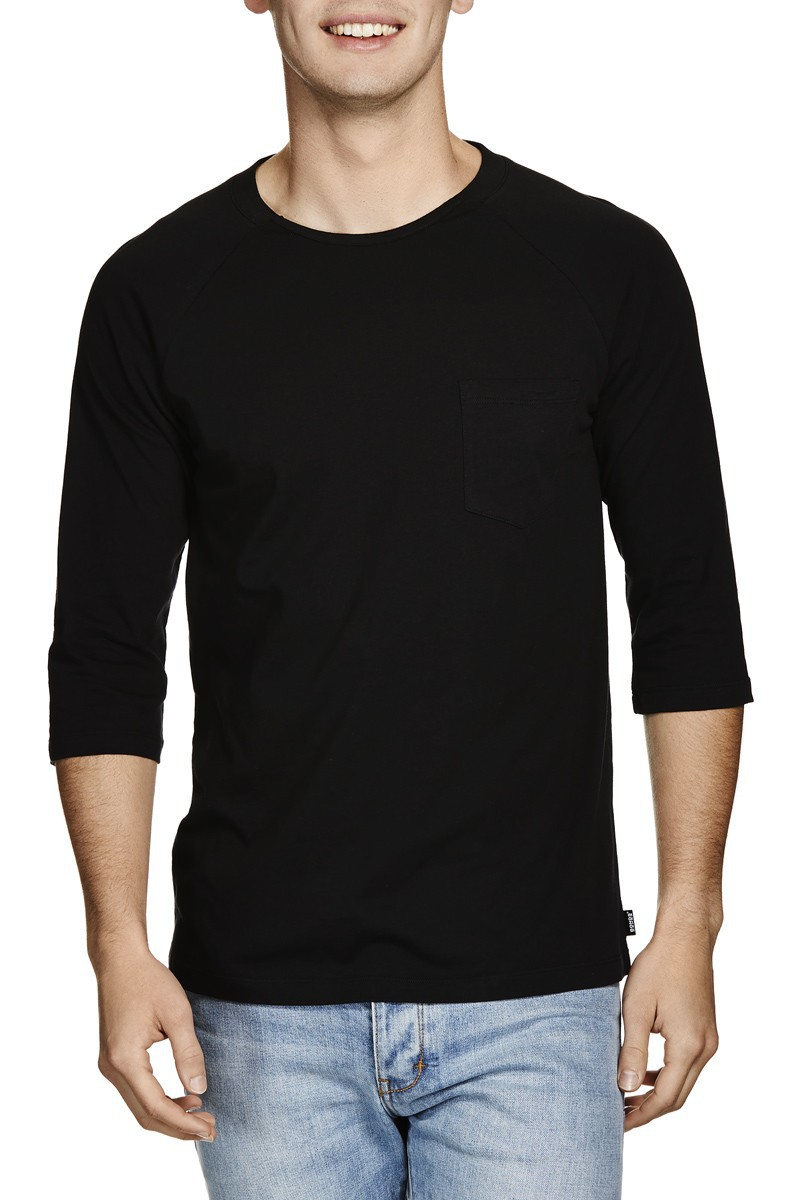 Black Blank Collar Pocket Men T-shirt - Buy Collar Pocket Men T ...