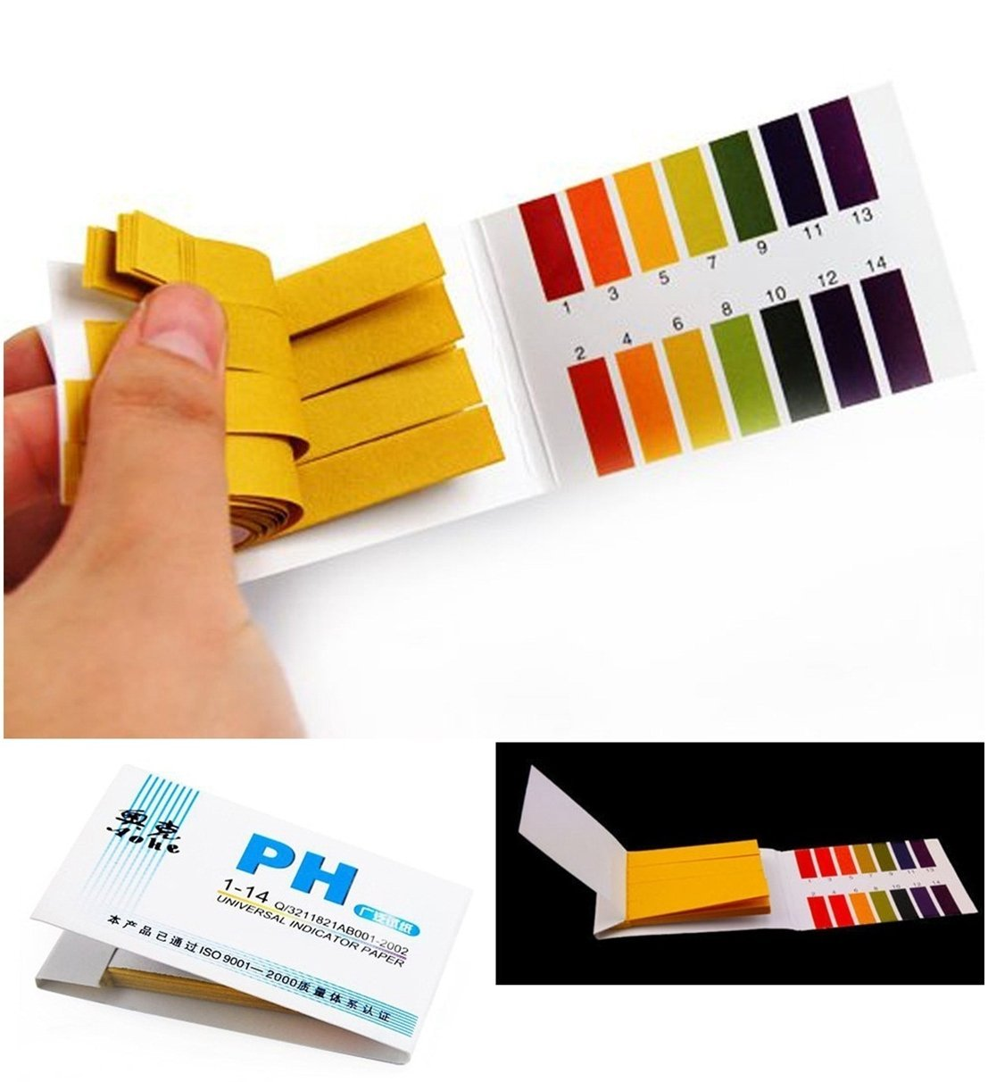 160x Test Distinguished Popular pH Tester Strips Alkaline Universal Practical with Color Chart