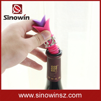 Lily Wine Bottle Liquor Silicone Plastic Bar Wine Pourer Stopper