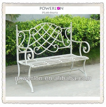 Peachy Romantic White Metal Couple Bench Garden Yard Outdoor Patio Decor View Garden Bench Powerlon Product Details From Fuzhou Powerlon Arts And Crafts Ncnpc Chair Design For Home Ncnpcorg