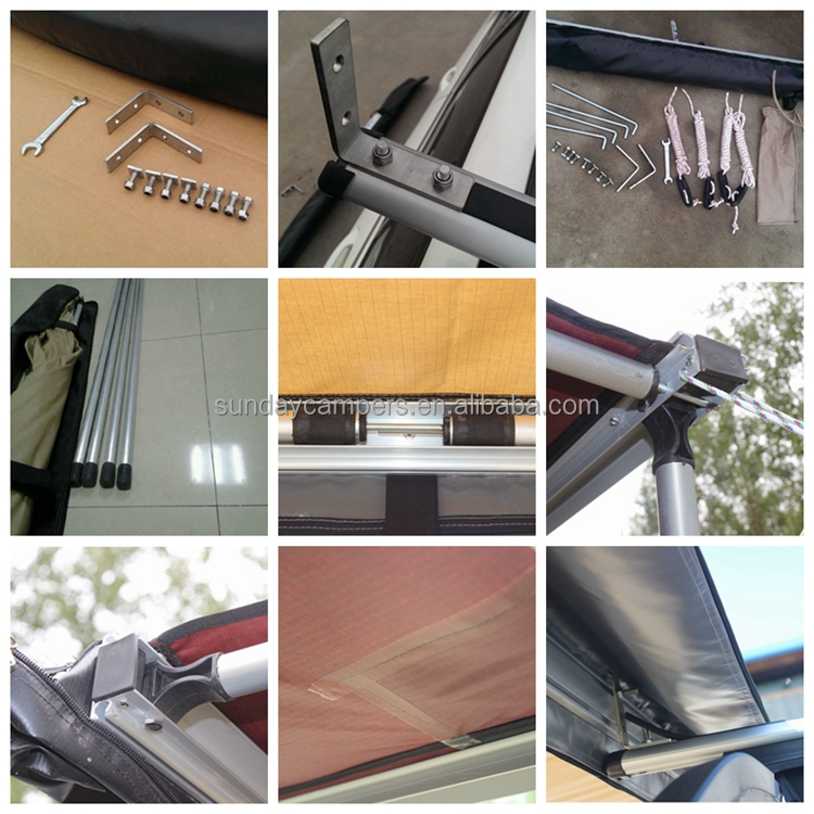 China Product Retractable Car Awning Used Awnings For Sale Side Vehicle With Bracket