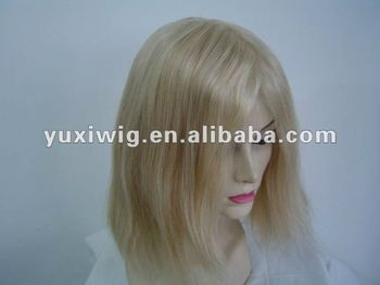 hot selling short blonde human hair full lace wig