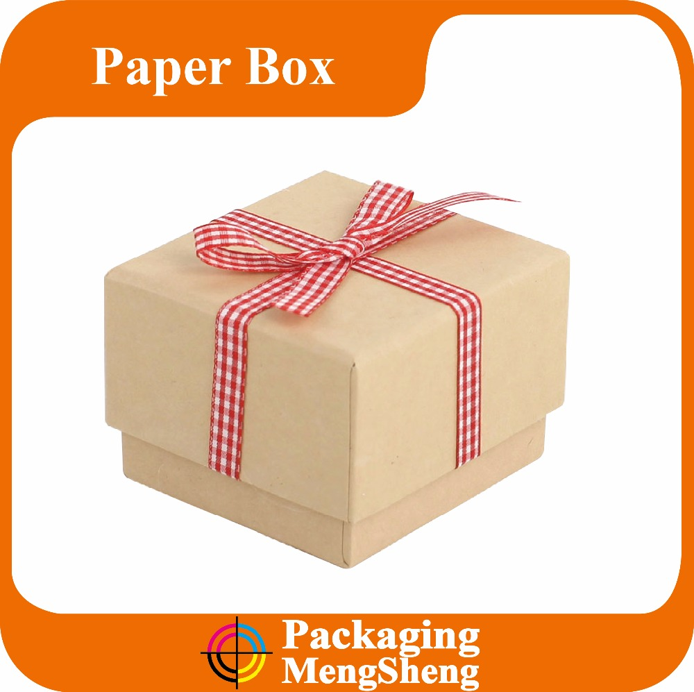 custom cardboard paper square gift boxes with lids/ kraft paper square lid giftbox/ square lift-off lid gift box wholesale