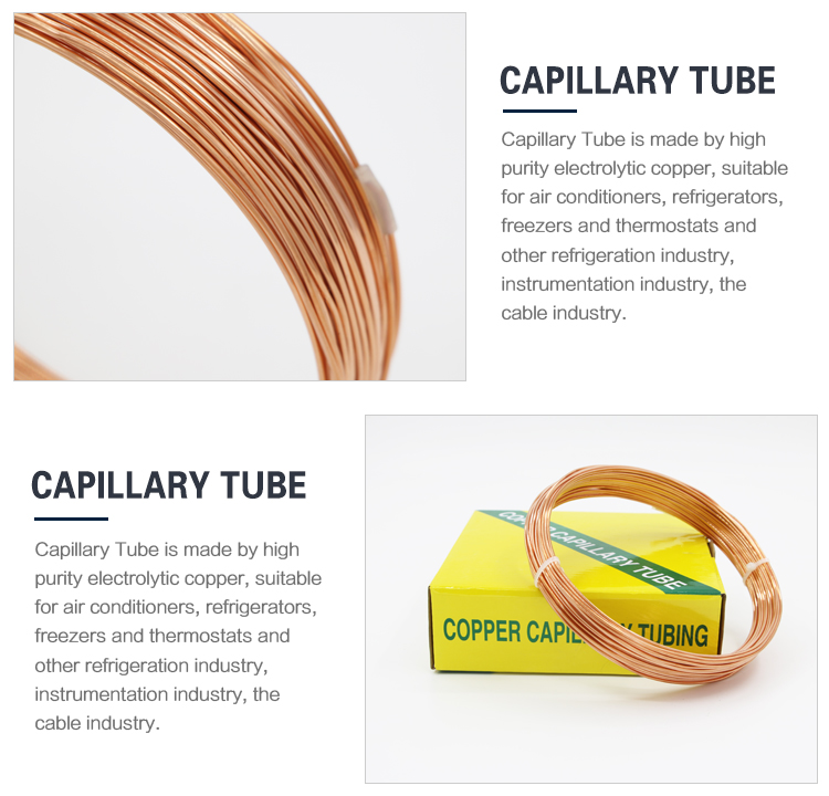 Capillary Copper Tubes for Drain, Suitable for Waste/Ventilation Pipe, Grades of C2680, C2400, C2300