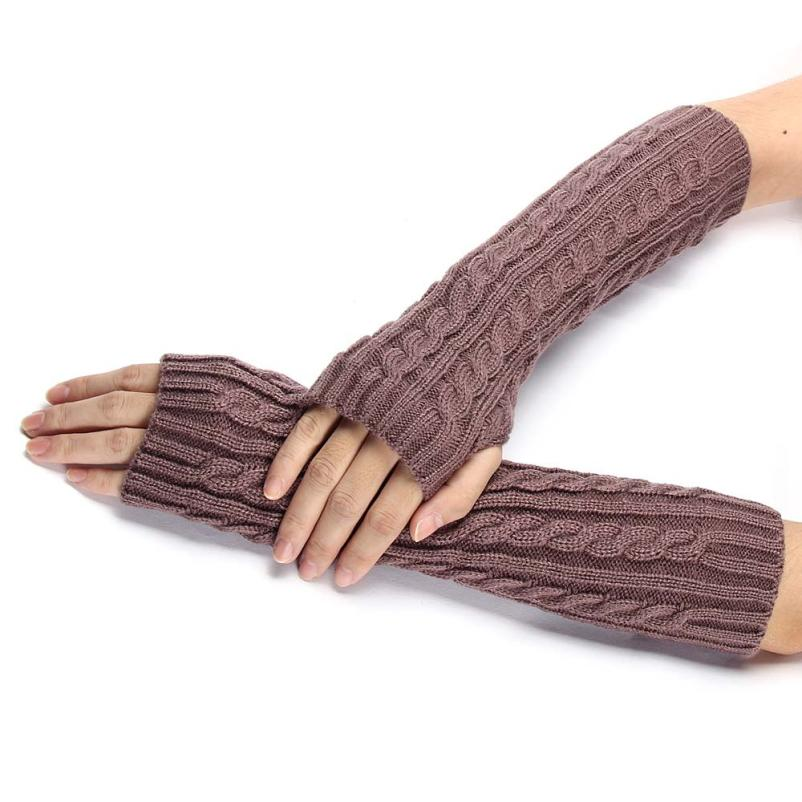 Delicate Winter Lady Arm Warmer Knitted Arm Fingerless Winter Gloves Unisex Soft Warm Mitten Gloves nor5912