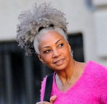 Kinky Curly Silver Grey Virgin Human Hair Drawstring Ponytail Hair
