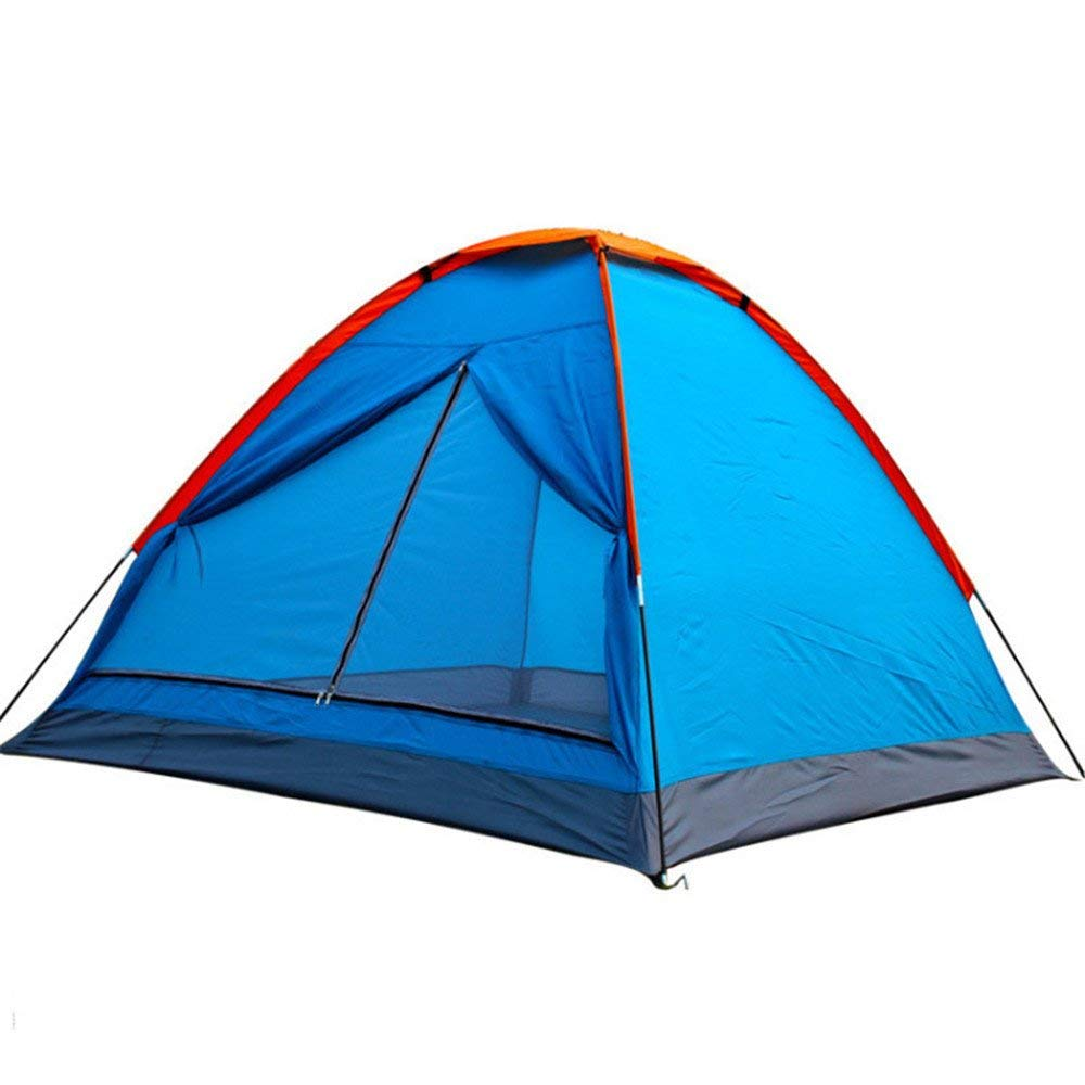 Opbsite 3-4 People Camping Tent Anti Rainstorm Pressing Tent Need To Be Assembled For Outdoor Sports With Blue Color