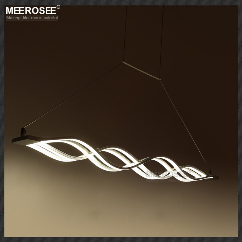 Wave Shape Twisted Decorative LED Chandelier Pendant Lights,Dining Room Living Room Modern Pendant Lighting MD83057