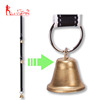 Dog doorbells dog potty training doorbell kit with reflective nylon ribbon and brass bells