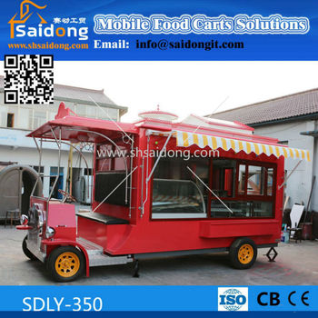 Most Popular Design Electric Mobile Ice Cream Cart Buggy Food Truck Antique Car