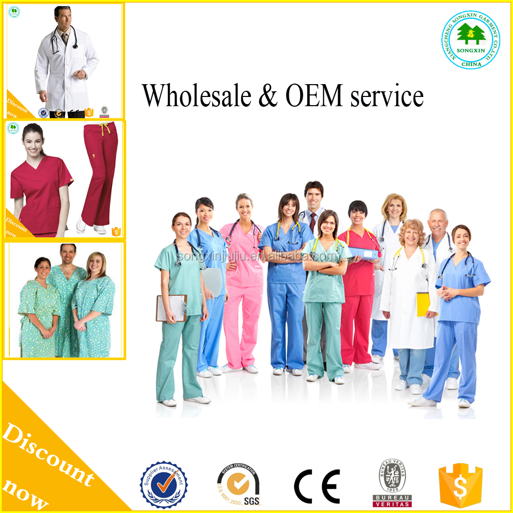 Cheap colourful factory medical uniform united states