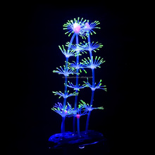 <span class=keywords><strong>Aquarium</strong></span> Ornamenten Unieke <span class=keywords><strong>Aquarium</strong></span> Decoraties Tall <span class=keywords><strong>Aquarium</strong></span> Decor Gloeiende Effect Siliconen String Veer Coral-Geel