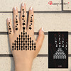 SET PACK HENNA PASTE stickers tattoo body art stencil india