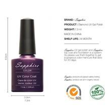Color No63 80 Brand Nail Art Sapphire Nail Gel 80 Fashion Colors UV Gel Polish