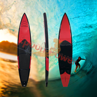 top quality stand up paddle board big sup racing board red color race board quick