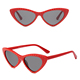 DLL95120 Women Fashion Small Cat Eye Nail Rivet frame Sunglasses