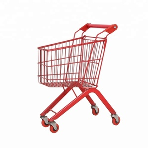 colour kids supermarket shopping trolley cart