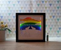 Rainbow Papercut Light Box Memorial Shadow Box Wholesale Box Frames in Australia