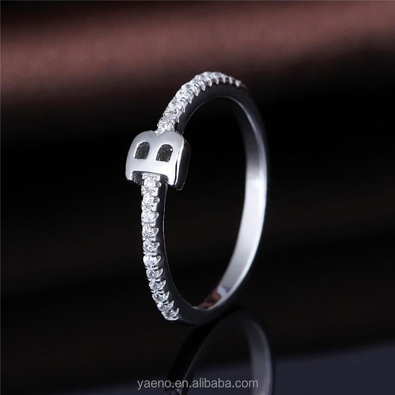 Fashion 925 Silver Zircon Letter B Ring   Buy B Ring,Zircon Letter B  Ring,925 Silver Letter Rings Product On Alibaba.com