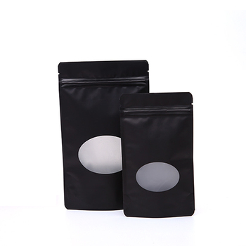 Food Storge Bags Metallic Mylar Ziplock Bags Flat Bottom Black Aluminum Foil Small Zip Lock Plastic Bags Wholesale
