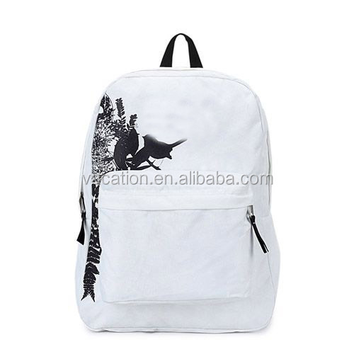 city style screen printing white pattern backpacks
