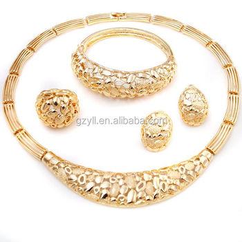 Nigeria Chunky Necklace Gold Jewelry