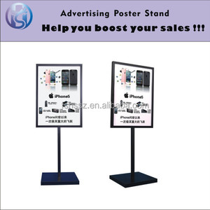 Metal a3 a4 poster holder stand sign board