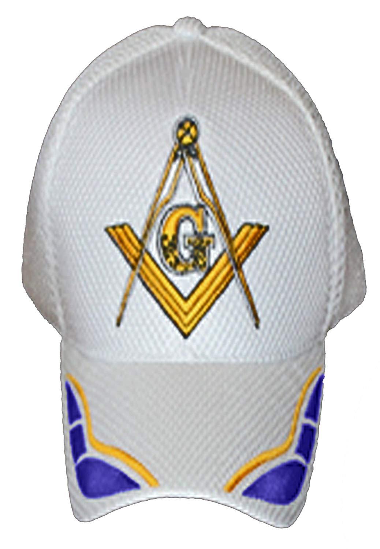 7fa9ff814e Masonic Baseball Cap Freemason Mason Hat Mens One Size White. 10.95. Buy  Caps and Hats ...