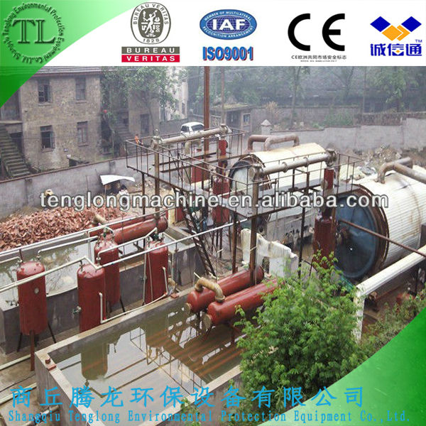 Used Tyres Oil Refining Equipment, Scrap Tires Pyrolysis Machine