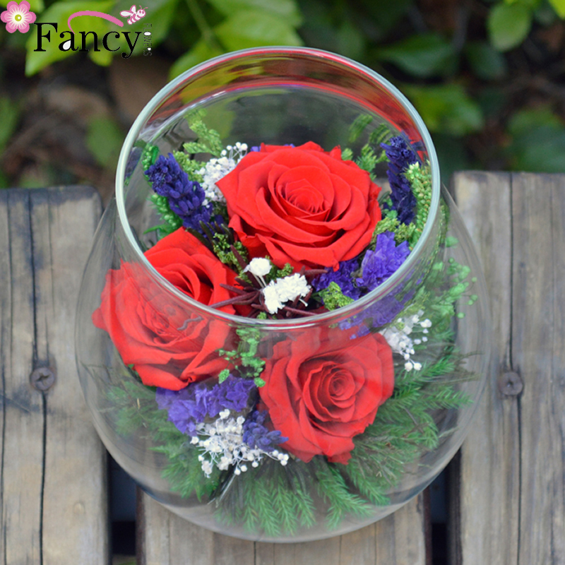 2017 multi color wholesale long lasting love roses uesd for room decoration preserved rose