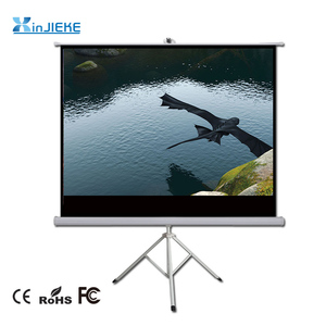 Easy operated 16:9 120 inch Portable Indoor Outdoor Projector Screen Pull Up Foldable Stand Tripod Projection Screen