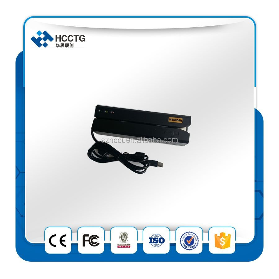 Original Brand NEW USB HID magnetic stripe credit card reader writer encoder for access control--MRS606H