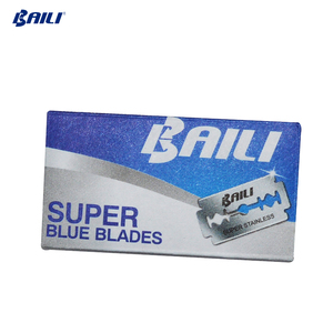Baili double sided safety stainless steel barber supplies razor blade