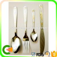 Restaurant best quality golden silverware/tableware/flatware set