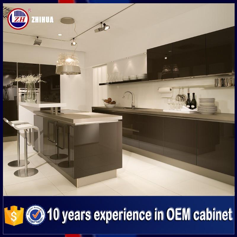 Zhihua Household Modern High Gloss Ghana Kitchen Cabinet ...