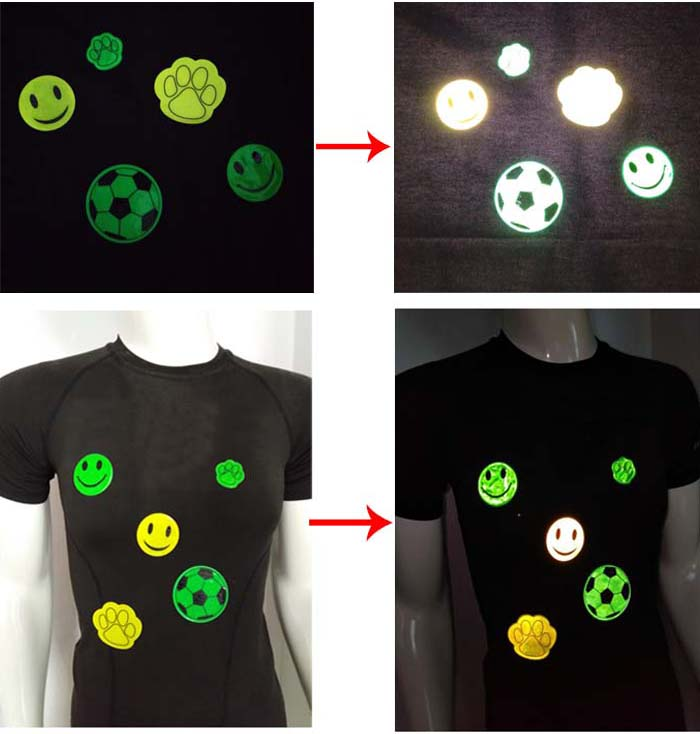 Visibilitas tinggi reflex mainan hadiah/reflektor keselamatan decals/stiker reflektif keselamatan