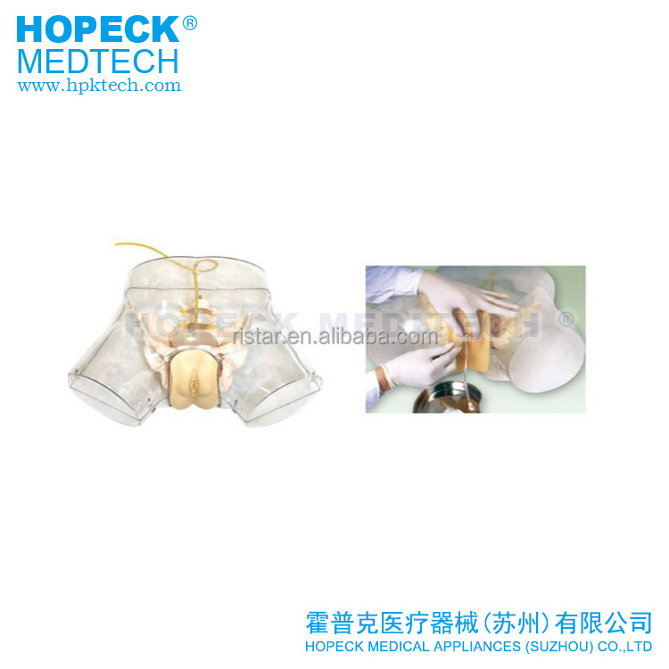 Medical use advanced transparent Male Catheterization Simulator