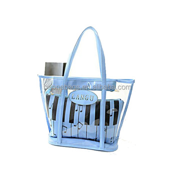 unique design transparent korean ladies' handbag at low price