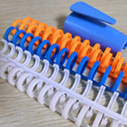Comb binding ring color plastic for loose leaf of notebook folder diary