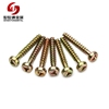 Color Zinc Pan Head Tri Wing Safety Screw For Plastics