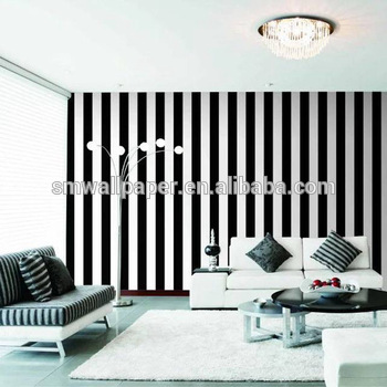 China Famous Wallpaper Brand Manufacturer 3d Stripe Black White Wallpaper  Zebra - Buy Wallpaper Zebra,Vinyl Coated Wallcovering,Latest Wallpaper