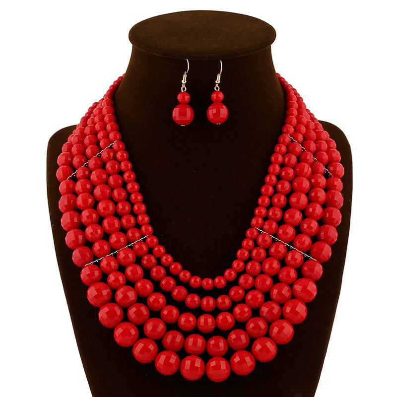 Popular Design Red 2015 Fashion Nigerian African Beads Jewelry ...