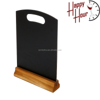 Chalkboard sign display wooden table chalkboard