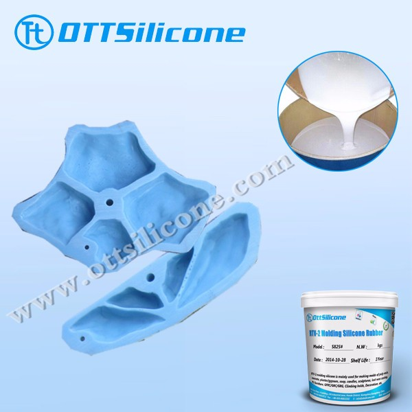 moulding rtv2 silicone for climbing holds/artifical stone casting